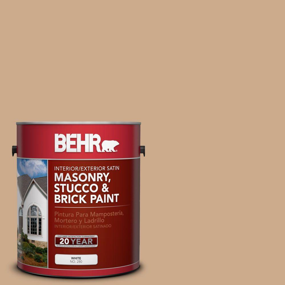 1 gal. #MS-30 Husk Satin Interior/Exterior Masonry, Stucco and Brick Paint